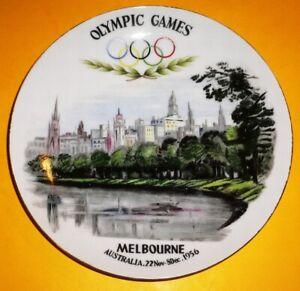 1956 OLYMPIC GAMES MELBOURNE ORIGINAL Superior Quality Porcelain Plate VERY RARE