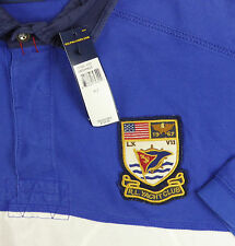 Polo Ralph Lauren WatchHill Rugby Shirt $125 RLYC USA Flag Crest Color Block NWT