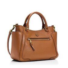 Tory Burch Frances Bark Pebbled Leather Small Satchel Shoulder Bag Handbag $485