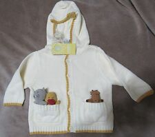 Nwt Vintage Gymboree 2004 Alphabet Soup Pocket Pal Puppet Hooded Sweater 6-9 mo