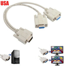 1 PC TO 2 LCD TV MONITOR SVGA Y SPLITTER 2 PORT CABLE VGA LEAD