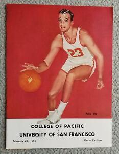 1956. University Of San Francisco Basketball Program. BILL RUSSELL  K.C.JONES #3