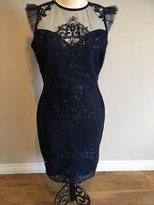 Michelle Keegan Lipsy Sequin Artwork Frill Sleeve Bodycon Dress Size 10 BNWT