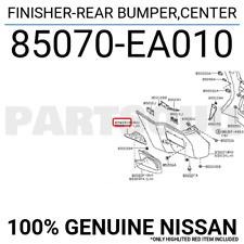 85070EA010 Genuine Nissan FINISHER-REAR BUMPER,CENTER 85070-EA010