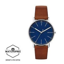 Skagen Men's Signatur Brown Leather Watch SKW6355