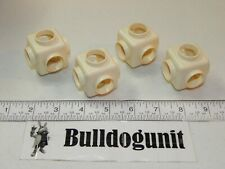 Vintage Tomy Popoids Colossal Cosmic Set Lot of 4 White Cube Pod Connectors Only
