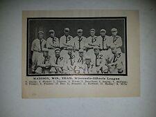 Madison Senators 1913 Baseball Team Picture Harry Bay Charlie Pickett