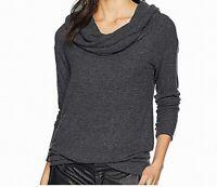 Michael Stars Womens Sweater Charcoal Heather Gray Medium M Cowl Neck $128 853