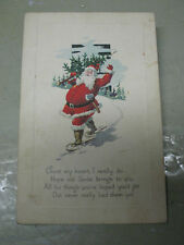 CHRISTMAS   POSTCARD  VINTAGE    1925 USA