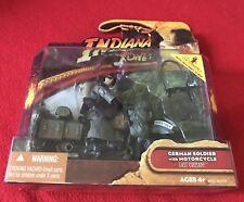 2008 Hasbro Indiana Jones Ultima Cruzada soldado alemán con Motocicleta Nuevo Sellado