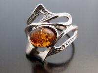 Bernstein Silber 925 Ring Sterlingsilber Damen-Schmuck verschiedene Groessen R34