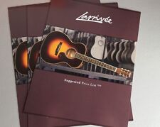 Larrivee Acoustic Guitars 2004 Price List Sales Catalog Foldout