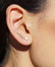 Ear Cuff Ear Climber Silver or Gold Plated Crystal Comet Shooting Star Earrings