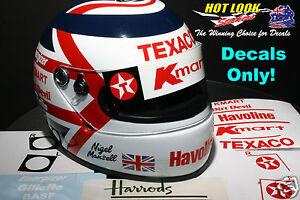 Nigel Mansell Arai 1:2 Helmet Missing Decals cut Vinyl 1993 Indy Car Champion