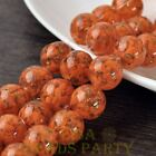 New 5pcs 14mm Lampwork Glass Dots Loose Spacer Round Beads Charms Orange