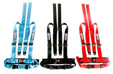 D1 Spec Universal 4-Points Blue/Red/Black Racing Harness Seat Belts Mounting
