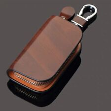 Brown Leather Cover Auto Car Remote Key Fob Case Bag Fob Bag For BMW Series