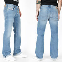 Diesel Herren Regular Bootcut Fit Stretch Jeans Hose - Hellblau - Zatiny R4MR8