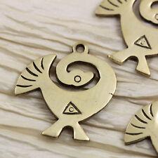 LAST!!! 4pcs 40x40mm Brass Aztec Bird Hand-made brass pendants