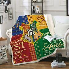 Harry Potter Fleece Blanket Winter Sherpa Warm Home Bedding Throw Single to King