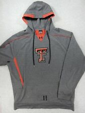 Texas Tech Red Raiders Under Armour Football Hoodie Sweatshirt (Mens 3XL) Gray