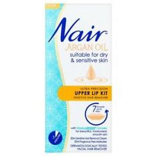 2 X NAIR ARGAN OIL ULTRA PRECISION UPPER LIP KIT SENSITIVE HAIR REMOVER