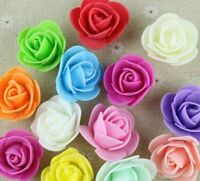 500 Mini Artificial Rose Flower Heads Foam Wedding Party Decor Wholesale 3cm NEW