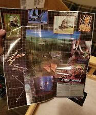 Vintage 1985 Star Wars POTF Endor Planetary Map ewok battle wagon, last 17
