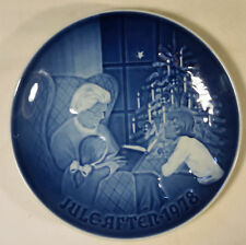 """Royal Copenhagen """"Jule After 1978"""" A Christmas Tale Collector Plate Blue & White"""