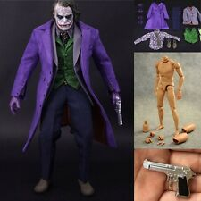 1/6 Scale Batman Joker Clothes Accessories Set and Narrow Shoulder Figure Body