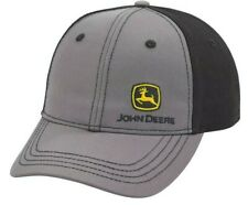 New John Deere Black Gray Cap Small Logo on Front Lp69223