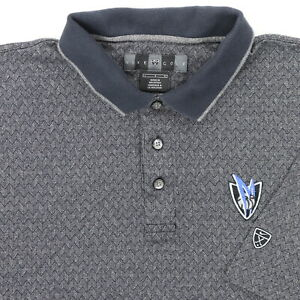 "Nike Golf Dallas Mavericks Men Large 44"" Polo Shirt Gray Zig Zag Cotton"