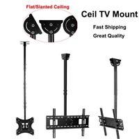 """Tilt Swivel TV Ceiling Mount Height Adjustable for LCD LED Flat Screen 32""""-72"""""""