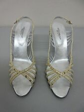 DOLCE & GABBANA Made in Italy Beige Snake (leather) Strappy Cage Heel Size 41