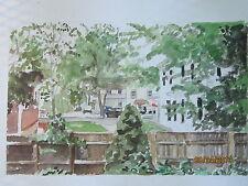 "Original Watercolor/Country Bistro, Salisbury, CT/14""x10""/Mimi Davis, Artist"