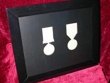 WW1 Medal Frame- British War & Victory Medals (Pair) Impressed Aperture