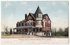 ANTIQUE UDB VIEW POSTCARD HANCOCK LIBRARY NATIONAL MILITARY HOME KANSAS KS 1907