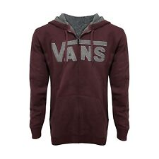 VANS Men Outline Drop V Full Zip Hoodie Plum Medium Off The Wall  #2