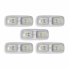 5 RV LED 12v FIXTURE DOUBLE DOME LIGHT 3200K WARM WHITE CAMPER TRAILER MARINE