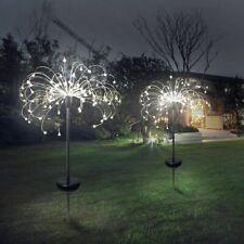 Solar Powered Outdoor Garden Fiber Optic Lights Yard Decoration LED Lamp Lawn