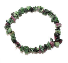 Ruby Zoisite crystal chip healing bracelet - Free Postage