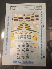 Rare...Microscale Decals #72-288 F-86Fs Decal Sheet