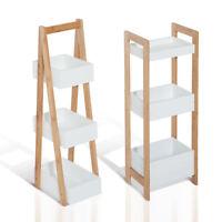 3-Tier Shelf Storage Bamboo Cupboard Standing Unit Rack Organizer Bathroom