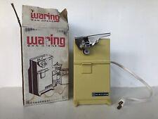 Vintage 1978 Waring Retro Electric Can Opener Co-83 Harvest Gold - Original box