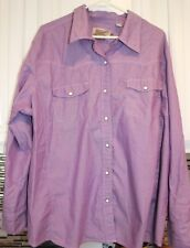 Schmidt Ladies Workwear Shirt 3X FIT for her Purple Western Pearl Snap Ranch EUC