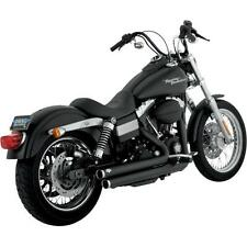 Vance & Hines Exhaust Big Shot Staggered Black Harley Dyna 06-11 - 47919