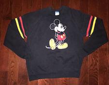 MICKEY MOUSE Vtg 80's Raglan sweat t shirt Sweater Felt Logo DISNEY CASUALS XXL