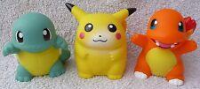Oficial de 3 figura de banco de dinero Tomy Pokemon 1997 Pikachu Charmander Squirtle Japón