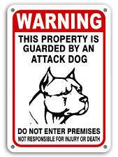 """Guard Dog on Duty Signs Beware of Dog Sign Dogs Will Bite Attack Dog 7""""x 11"""""""