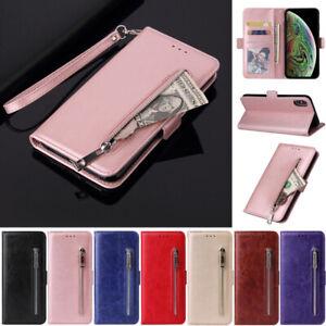 Zipper Wallet  Leather Flip Case Cover For iPhone 12 11 Pro XS Max SE2 8 Plus XR